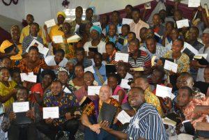 Photo of Bible study training graduates in Liberia.